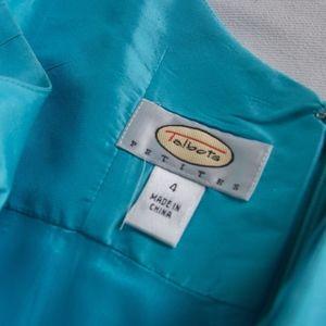 Talbots Dresses - Aqua Talbot Satin Tea Dress (4)